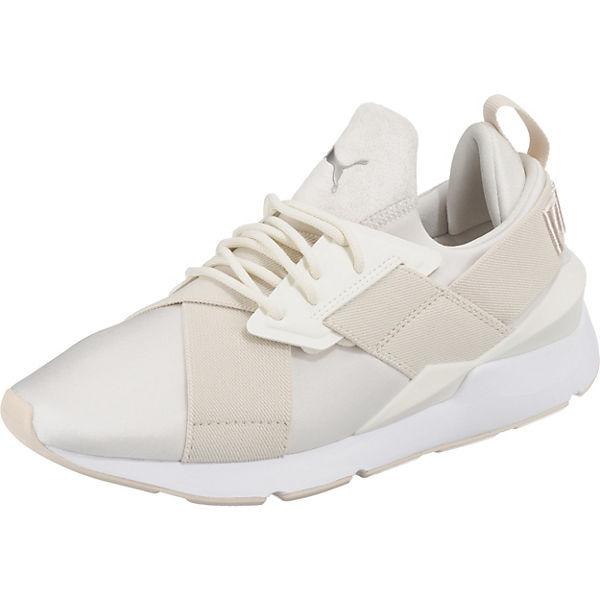 best authentic 43cf3 d83a3 PUMA, Muse Satin II Wn's Sneakers, weiß-kombi