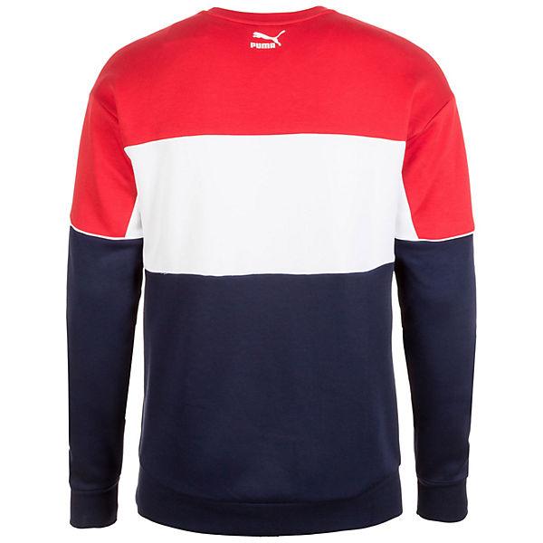 Crew Sweatshirt Retro rot Puma blau PUMA EwTqSx6Y1