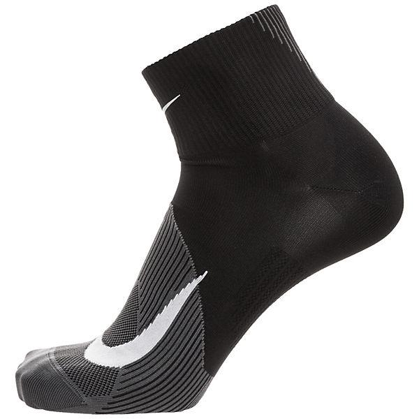 Laufsocken Performance schwarz Elite Nike Lightweight Quarter TpR1x