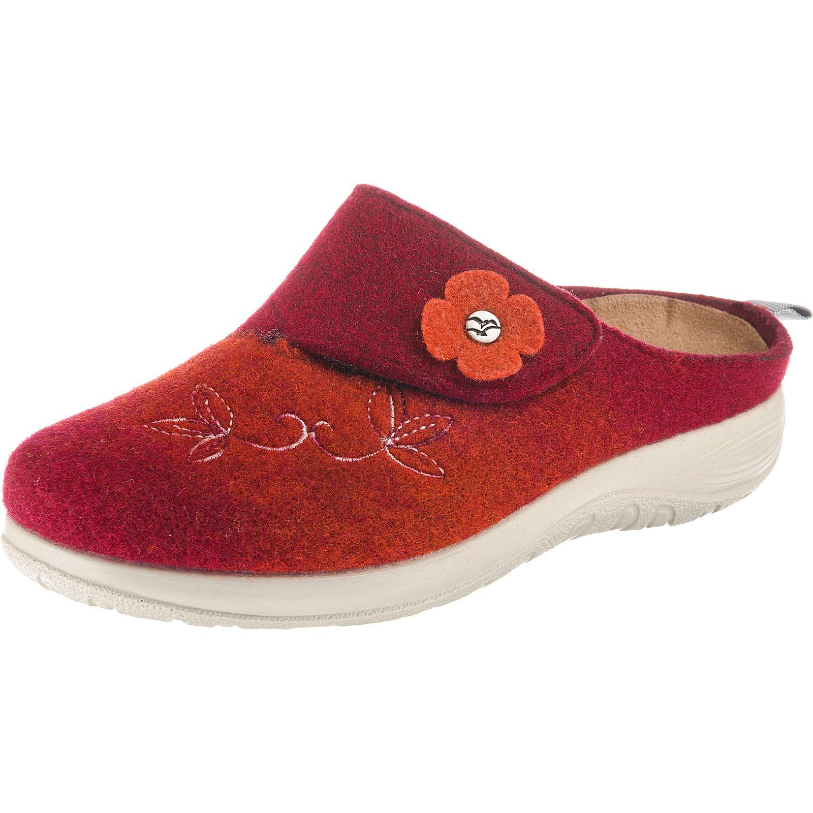 FLY FLOT Pantoffeln rot Damen Gr. 41
