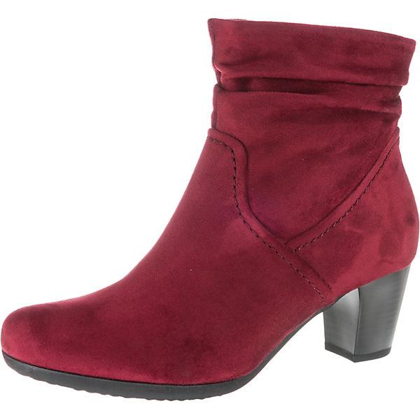 Rabattgutschein exzellente Qualität Großhandelsverkauf Gabor, Klassische Stiefeletten, rot