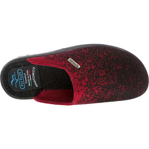 FLOT FLY Pantoffeln Pantoffeln FLOT Pantoffeln bordeaux schwarz schwarz FLOT FLY bordeaux FLY RSq0Iw8x
