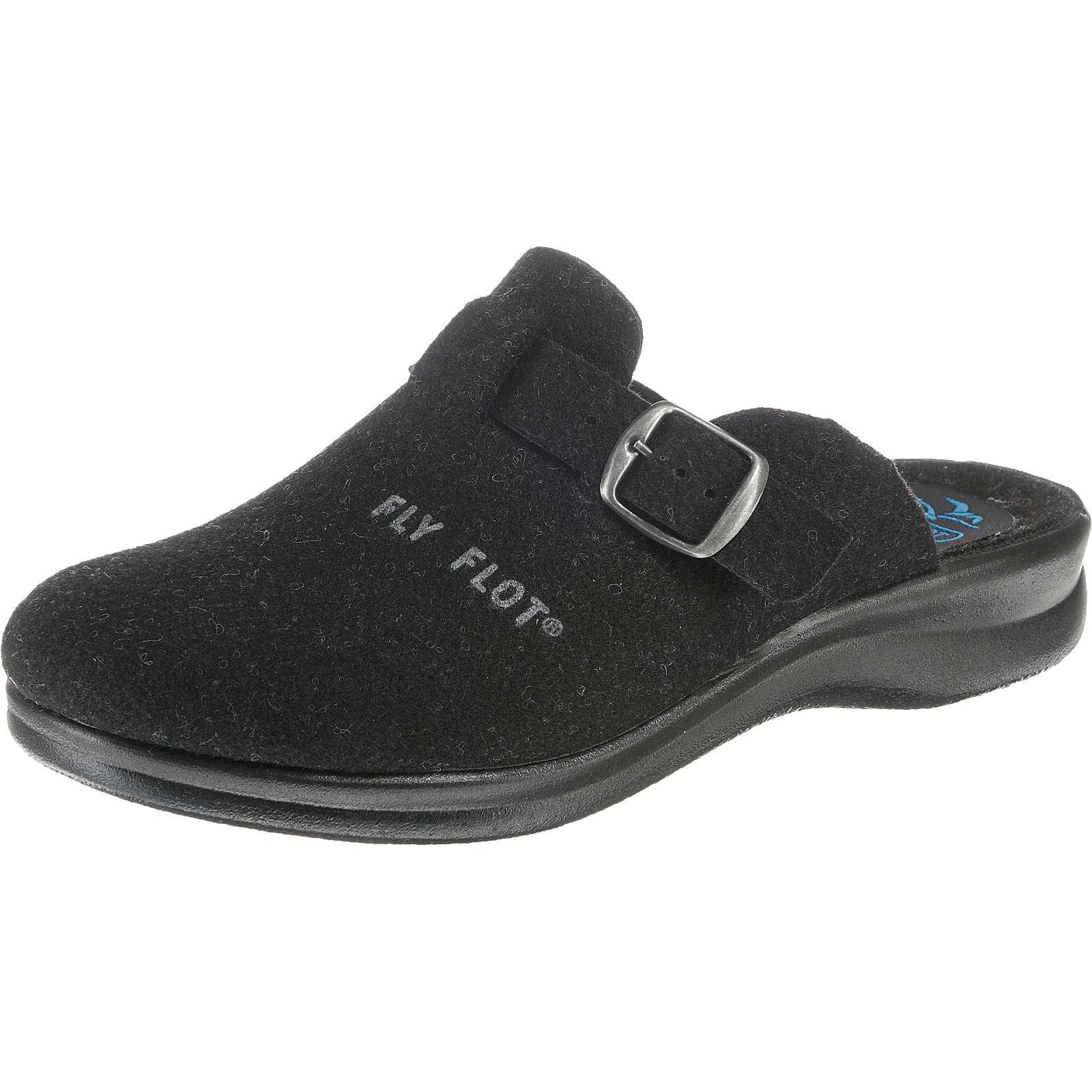 FLY FLOT Pantoffeln schwarz Damen Gr. 40