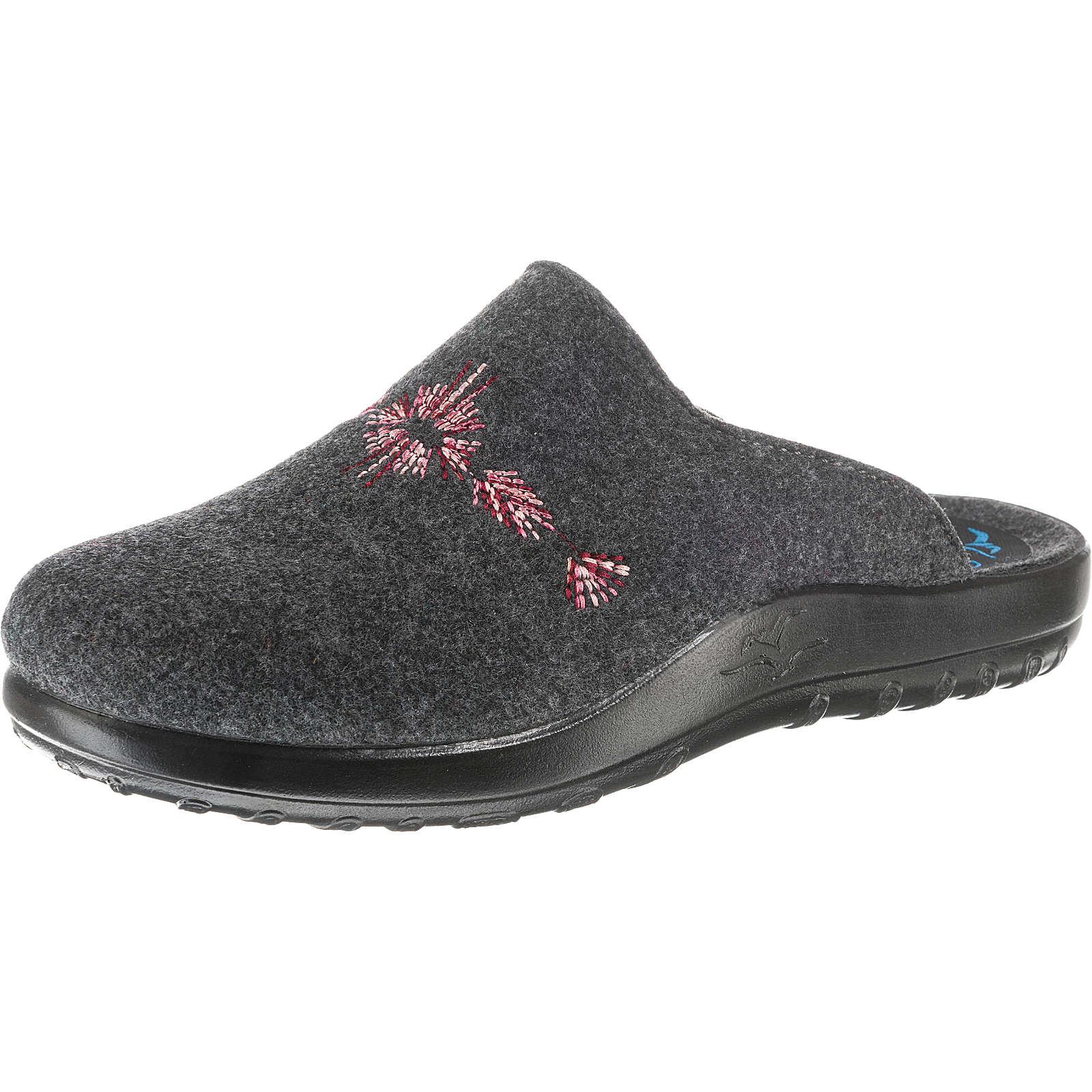 FLY FLOT Pantoffeln anthrazit Damen Gr. 41
