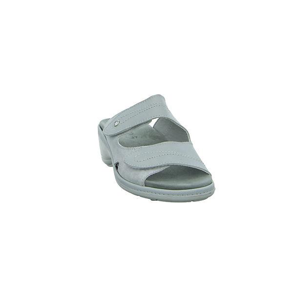 grau Pantoletten grau Longo Longo Pantoletten Komfort Komfort Longo Komfort f7Pq7x1