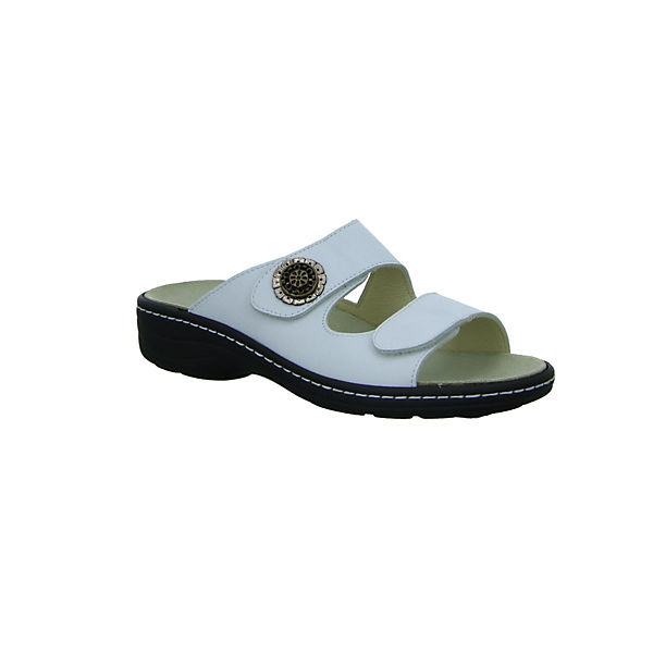 Longo, Komfort-Pantoletten, weiß Qualität  Gute Qualität weiß beliebte Schuhe 8039c9