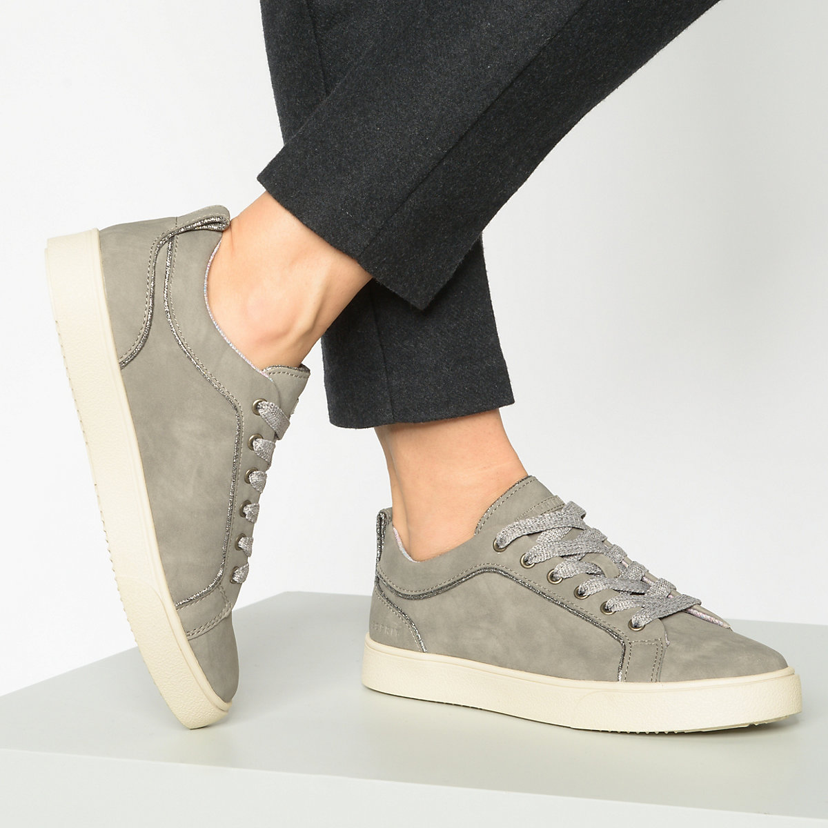 ESPRIT, Cherry  Sneakers Low, grau