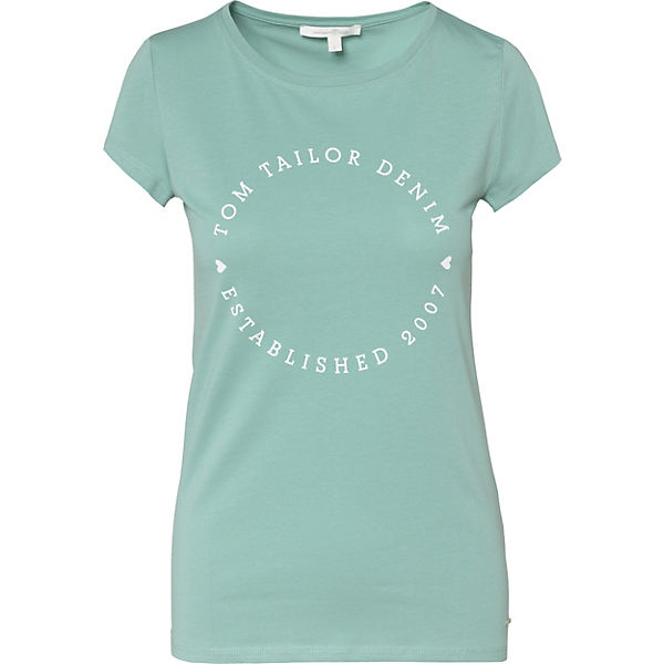 Shirt Denim T TOM TAILOR grün qFgYYO