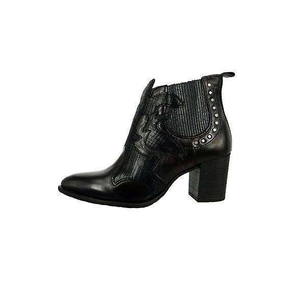 MJUS Nero Lavanda Echtleder Biker Boots schwarz  Gute Qualität beliebte Schuhe