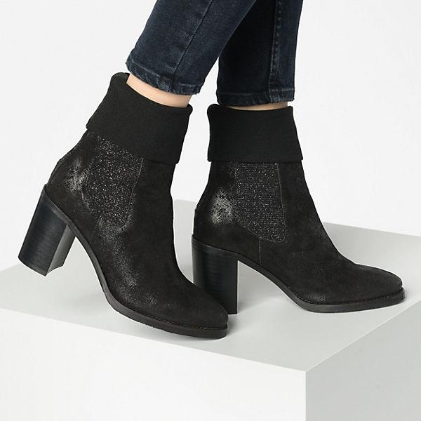 TOMMY HILFIGER, KNITTED SOCK HEELED BOOT SHINY Klassische Stiefeletten, schwarz  Gute Qualität beliebte Schuhe