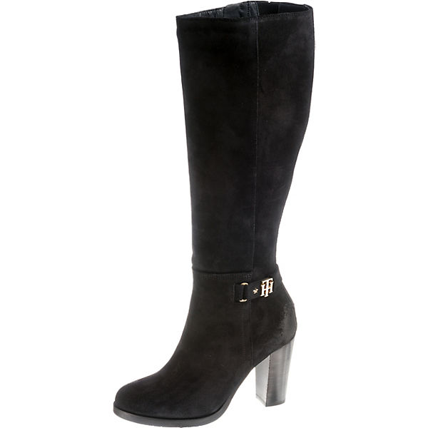 TH BUCKLE HEELED LONG BOOT SUEDE Klassische Stiefel