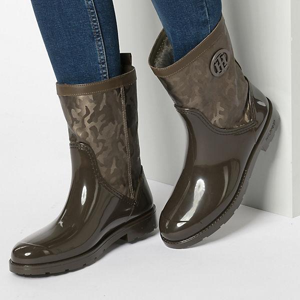TOMMY HILFIGER, SHINY CAMO RAIN BOOT Klassische Stiefel, braun  Gute Qualität beliebte Schuhe