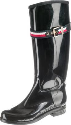 Tommy Hilfiger Damen BELT RAIN BOOT Gummistiefel schwarz