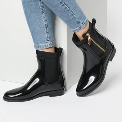 tommy hilfiger artikel sale g�nstig kaufen mirapodo  material mix rain boot klassische stiefel material mix rain boot klassische stiefel 2