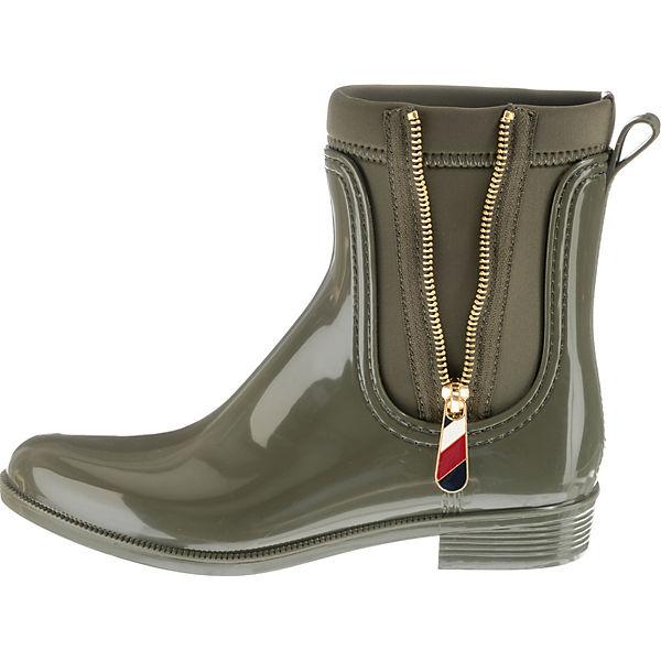 Hilfiger Material Klassische Stiefel Boot Grün Mix Rain Tommy ZON8wkXnP0