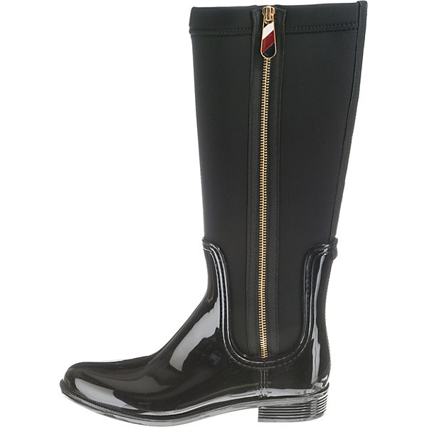TOMMY HILFIGER, MATERIAL MIX LONG RAIN BOOT BOOT BOOT Klassische Stiefel, schwarz   9c504e