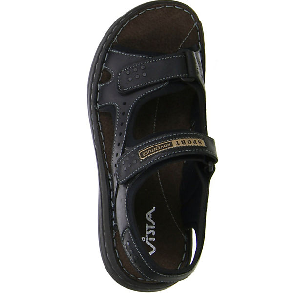 Vista, Klassische Sandalen, schwarz     f00d56