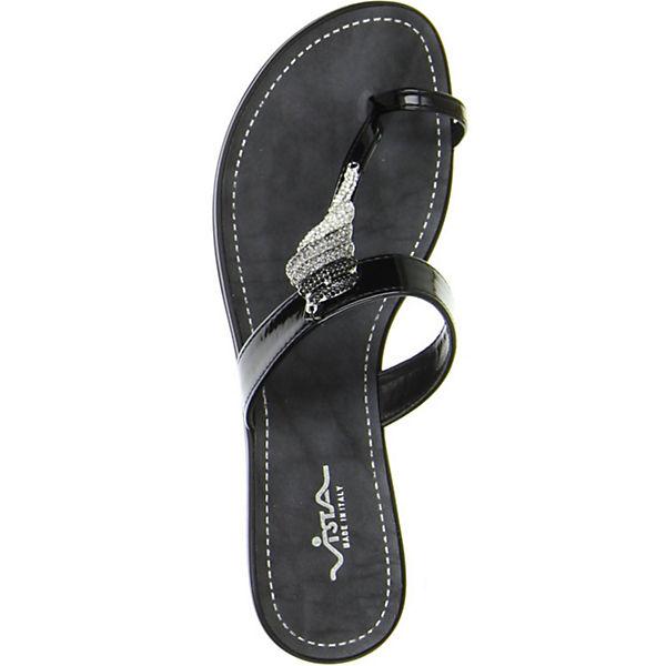Vista, Zehentrenner, Gute schwarz  Gute Zehentrenner, Qualität beliebte Schuhe 67a237