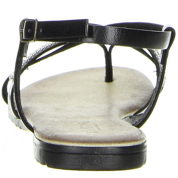 Vista, Riemchensandalen, schwarz