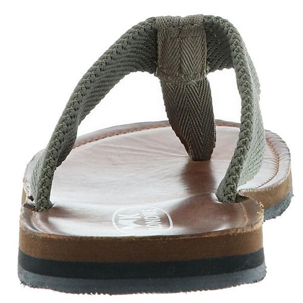 Klondike,  Zehentrenner, natur/oliv  Klondike, Gute Qualität beliebte Schuhe 2b526d