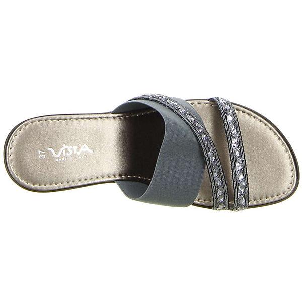 grau grau Pantoletten Vista Pantoletten Vista grau Pantoletten Vista Vista Vista Pantoletten grau 8wqYB