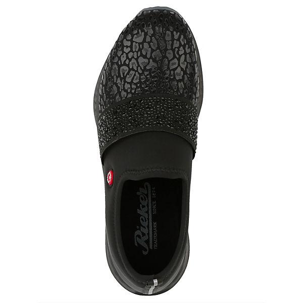 rieker,  Klassische Slipper, schwarz  rieker, Gute Qualität beliebte Schuhe 435100