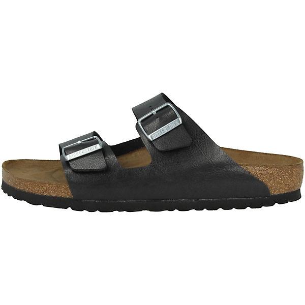 BIRKENSTOCK, Arizona schwarz Birko-Flor Graceful normal Komfort-Pantoletten, schwarz Arizona  Gute Qualität beliebte Schuhe 541c7e