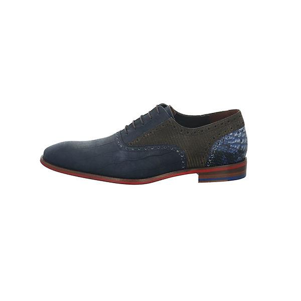 Floris van Bommel, Business-Schnürschuhe, dunkelblau  Gute Qualität beliebte Schuhe