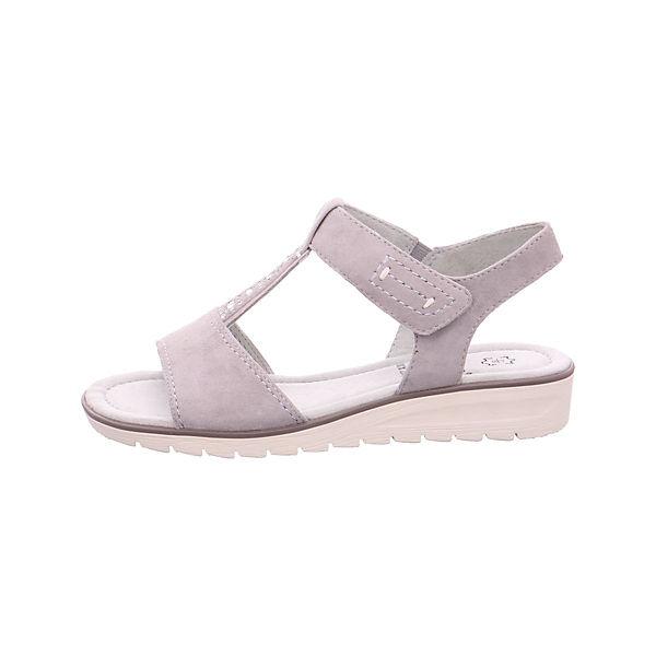 Jana, Klassische Sandalen, grau