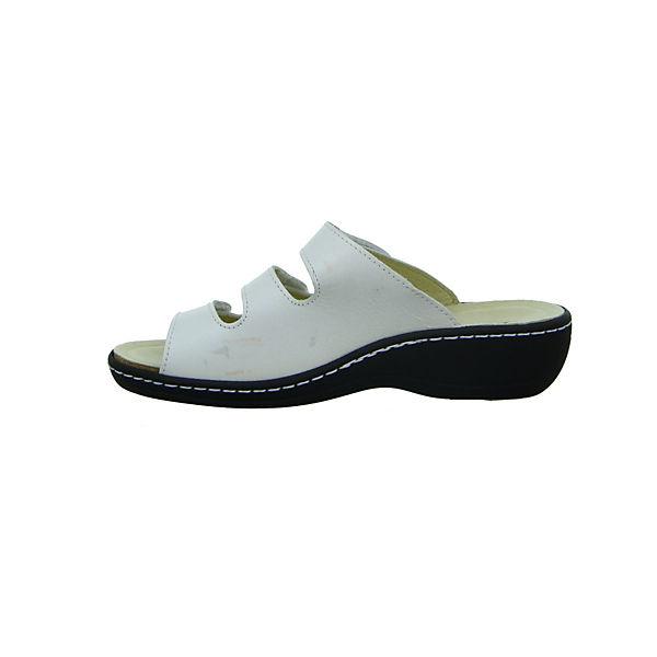 Longo, Pantoletten, weiß  Gute Qualität beliebte Schuhe