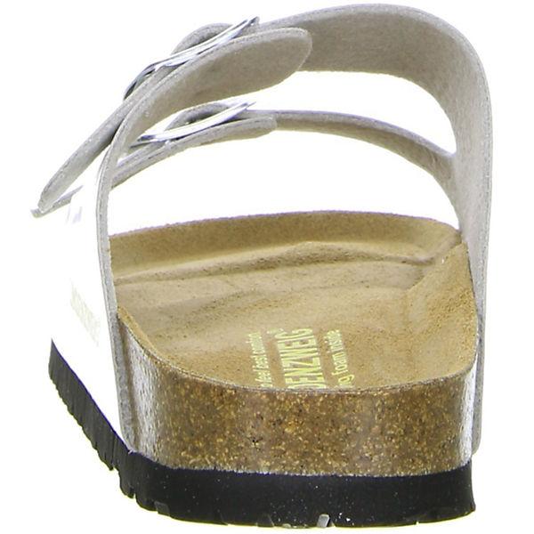 LINDENZWEIG, Komfort-Pantoletten, silber  Gute Qualität beliebte Schuhe