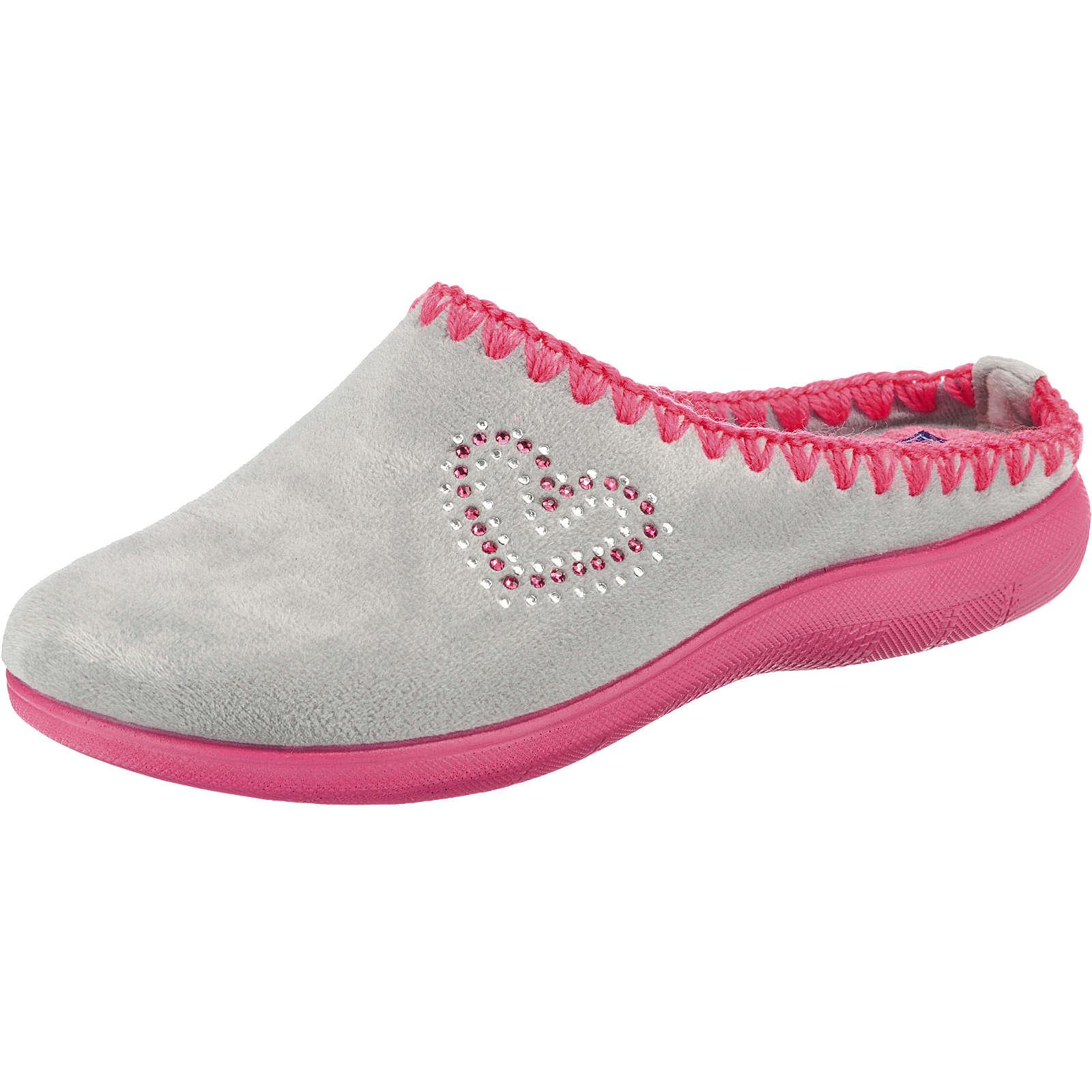 INBLU Pantoffeln grau Damen Gr. 37
