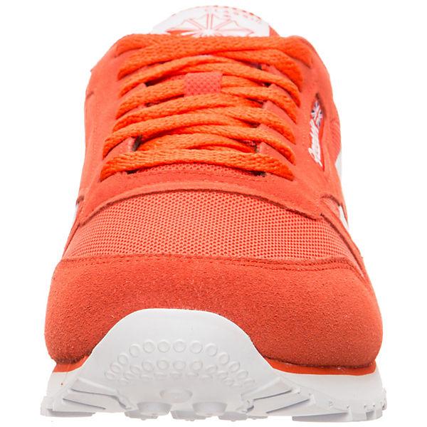 MU Classic Classic weiß orange Leather Reebok tSPwqUAw