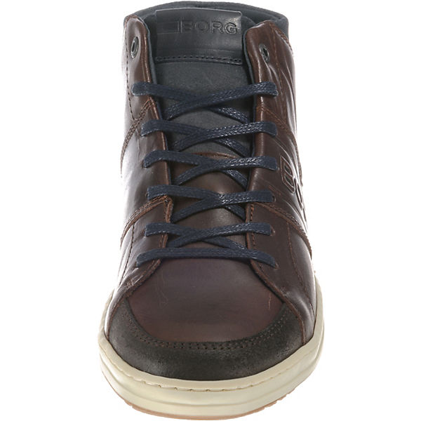 BJÖRN BORG, Curd dunkelbraun Mid M Sneakers High, dunkelbraun Curd  Gute Qualität beliebte Schuhe cc9381