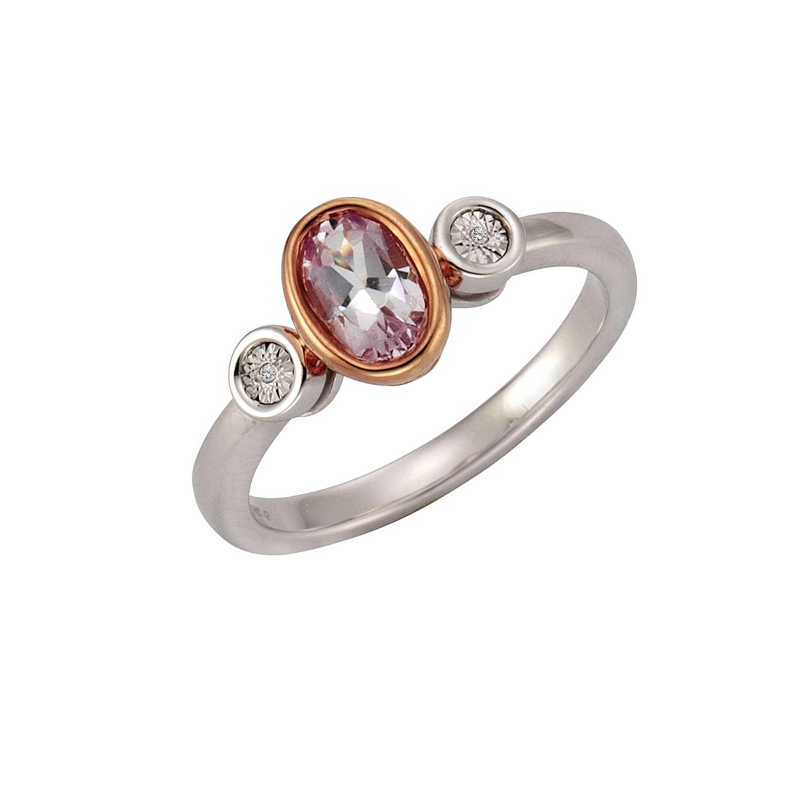 Celesta Diamonds 925/- Silber 2x Diamant mehrfa...