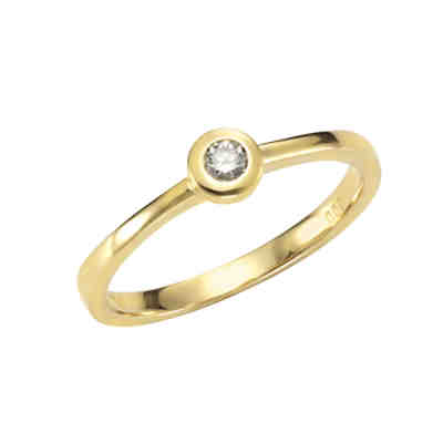 585/- Gelbgold Brillant