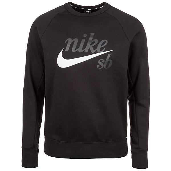 schwarz Herren NIKE SB Icon SB Fleece Sweatshirt RAYBwq