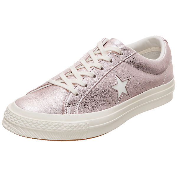 Cons One Star Metallic Leather OX Sneaker