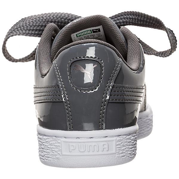 PUMA, Basket Gute Heart Patent Damen, grau  Gute Basket Qualität beliebte Schuhe 9f6d93