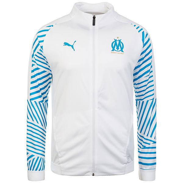Jacke Herren Stadium weiß Olympique PUMA Marseille Oqawn1RWF