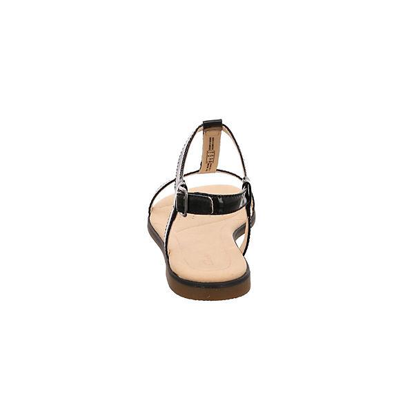 Clarks, T-Steg-Sandalen, schwarz  beliebte Gute Qualität beliebte  Schuhe f632d7