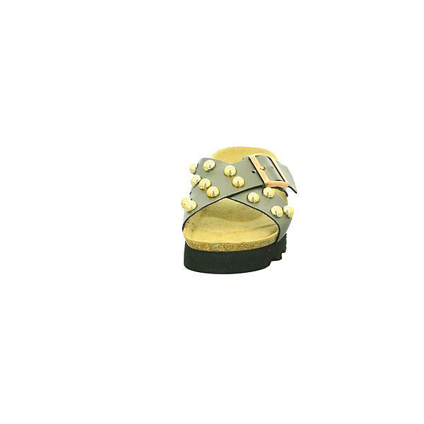 Tamaris, Pantoletten, gold/silber     f08b67