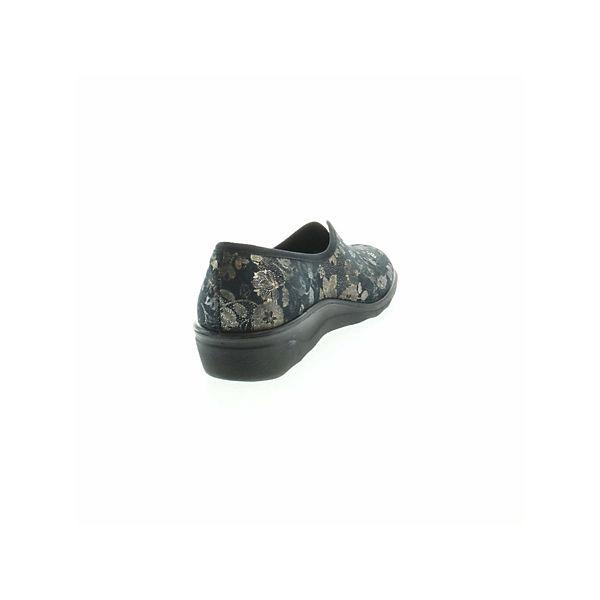 ROMIKA, Pantoffeln, schwarz     f47d07