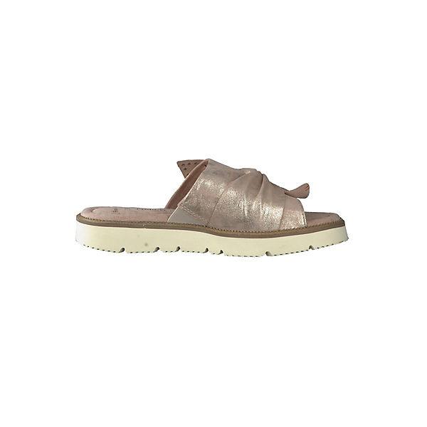 MARCO TOZZI, Pantoletten, gold beliebte  Gute Qualität beliebte gold Schuhe b26b97