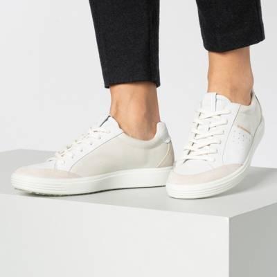 ecco, ECCO SOFT 7 LADIES Sneakers Low, weiß | mirapodo