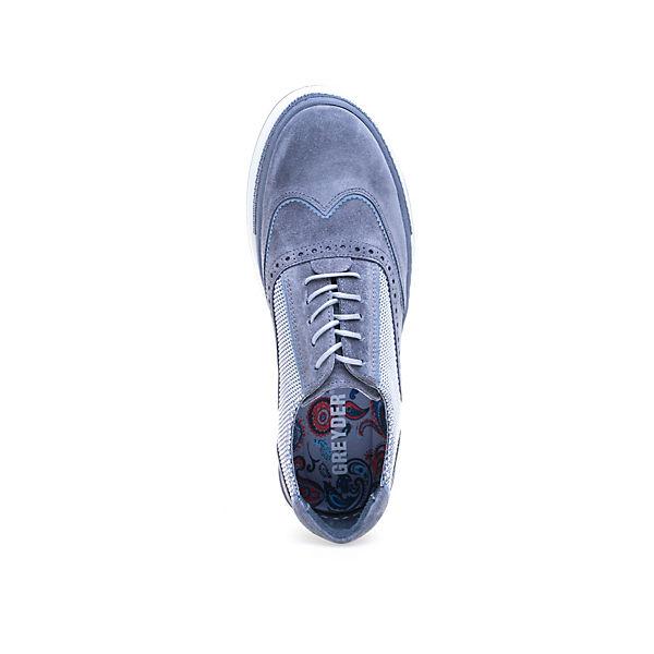 grau Greyder Schnürschuh Modischer im Materialmix GREYDER qwwU6Xv