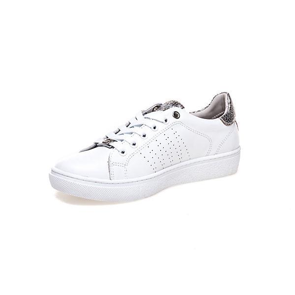 mit Details Sneaker Greyder GREYDER Metallic weiß kombi qS0wBHw