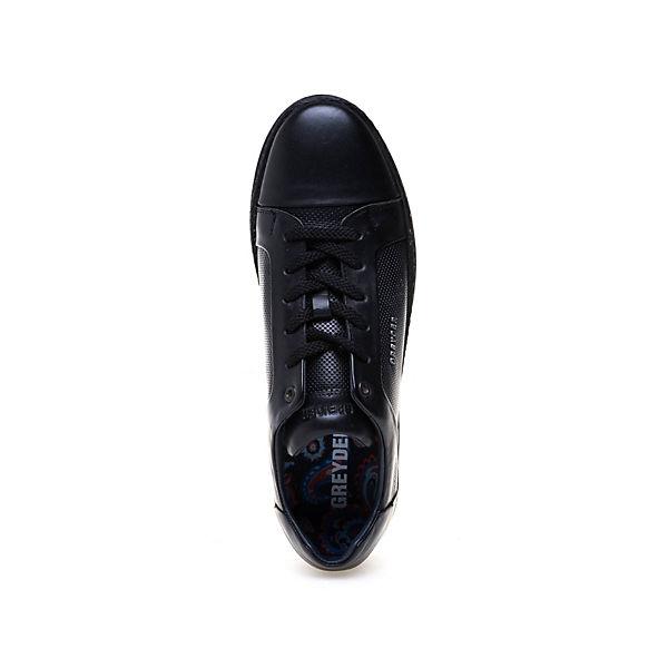 Perforierung Greyder Sneaker Modischer Basic GREYDER feiner schwarz mit CCq84Bw