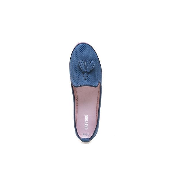 Greyder, GREYDER Slipper blau aus Nubukleder mit Quasten, blau Slipper   7790fa