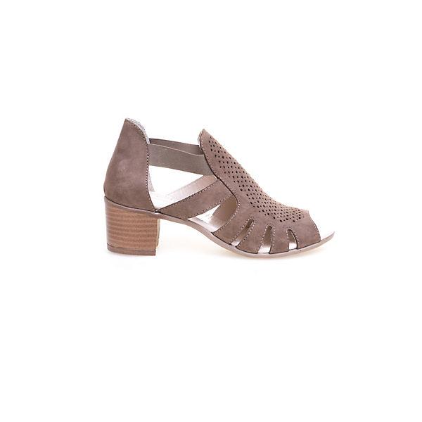 Greyder GREYDER Sandalette mit Blockabsatz und Lochperforierung braun  Gute Qualität beliebte Schuhe
